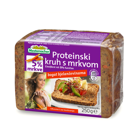 Proteinski kruh s korenčkom, 250 g
