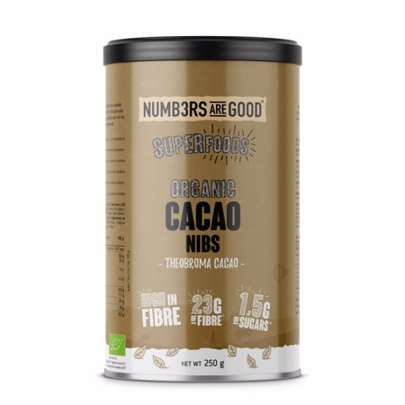 Cocoa Nibs, Organic, 250 g