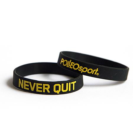 Motivacijska zapestnica, silikonska,Never quit
