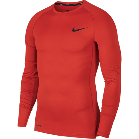 Nike Pro Long-Sleeve Compression Top, University Red/Black