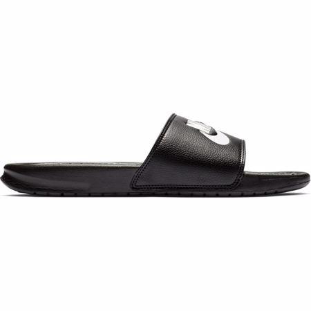 "Nike Benassi ""Just Do It"" Sandals, Black/White"