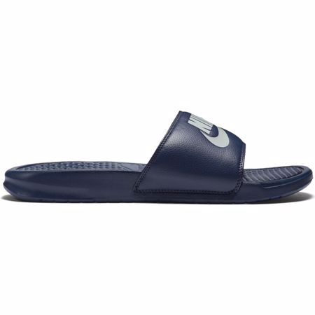 "Nike Benassi ""Just Do It"" Sandals, Midnight Navy/Windchill"