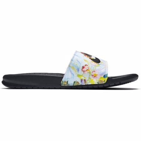 "Nike Benassi ""Just Do It"" Women's Sandals, Pure Platinum/Black"