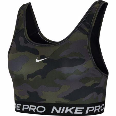 Nike Pro Swoosh Women's Medium-Support Pad Camo Sports Bra, Grey/Black