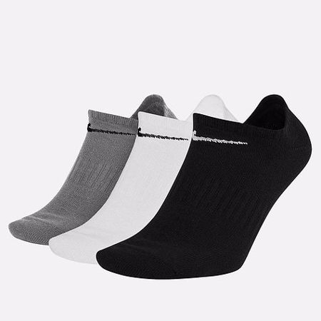 Nike Lightweight No-Show Socks (3 Pair), Multicolor