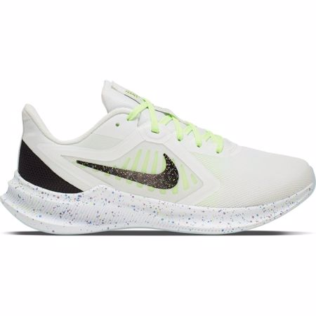 Nike Downshifter 10 SE Women's Running Shoes, White/Black/Green