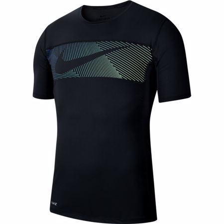 Nike Graphics Training SS Shirt, Black/White