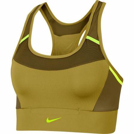 Nike Swoosh Medium Support Sports Bra, Tent/Olive Flak/Volt