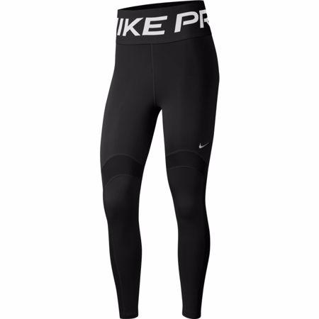 Nike Pro Novelty 7/8 Women's Leggings, Black/Metallic Silver