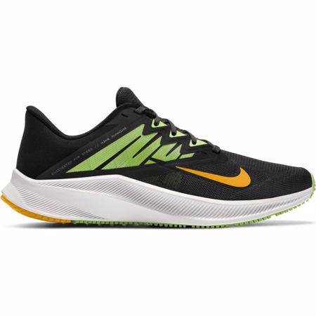 Nike Quest 3 Running Shoe, Black/White/Volt Glow