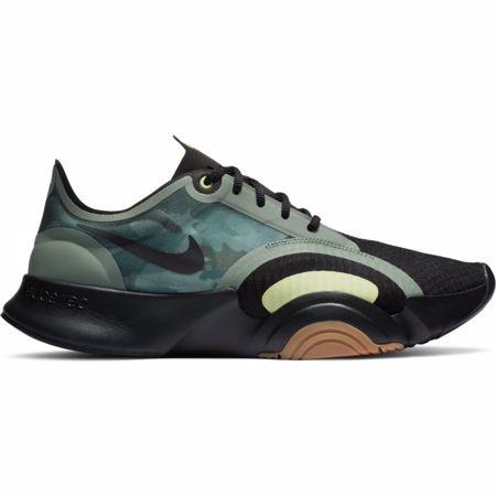 Nike Super Rep GO Training Shoe, Black/Spiral Sage/Medium Brown
