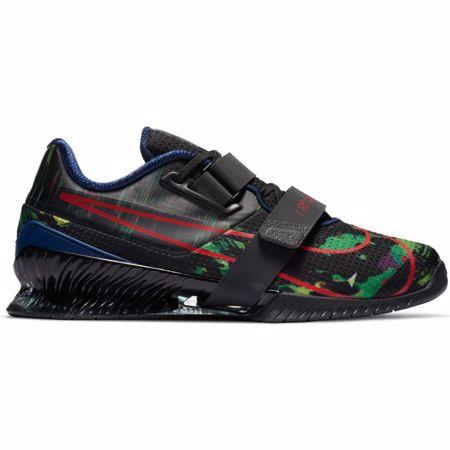 Nike Romaleos 4 Weightlifting Shoe, Black/Dark Grey/Green/Crimson