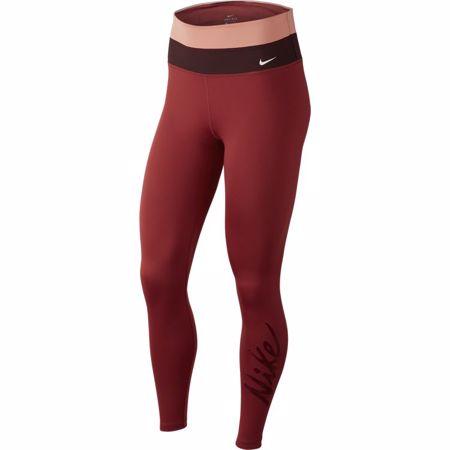 Nike Power Women's 7/8 Training Tights, Cedar/Pink Quartz/Mahogany