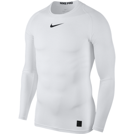 Nike Pro Men's Long Sleeve Top, White/Black/Black
