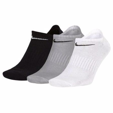 Nike Everyday Lightweight No-Show Training Socks, 3 Pair, Multicolor