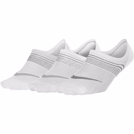 Nike Everyday Lightweight Women's Training Footie, 3 Pair, White/Grey