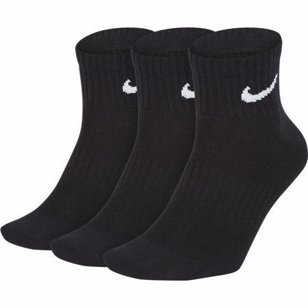 Nike Everyday Lightweight Ankle Traning Socks, 3 Pair, Black/White