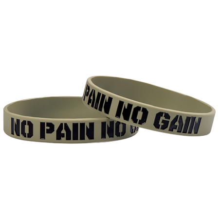 Motivationsarmband, Silikon, No Pain No Gain