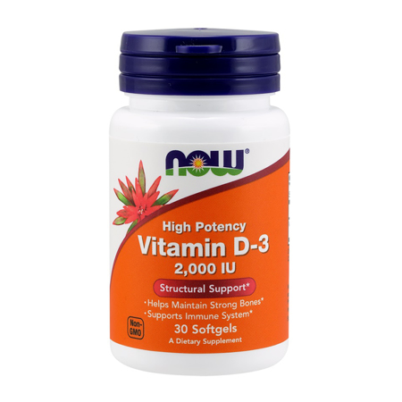 Vitamin D-3, 2000 IU, 30 softgels