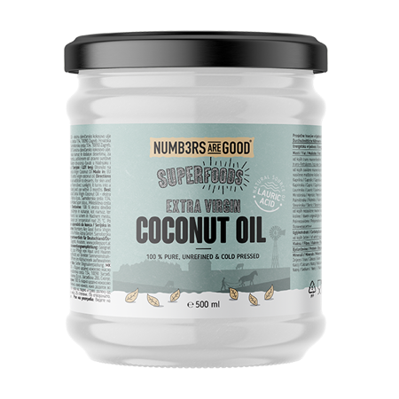 Extra Virgin Organic Coconut Oil, 500 ml