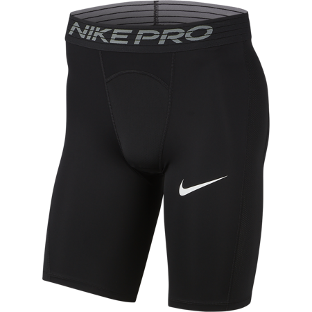Nike Pro Long Compression Shorts, Black/White