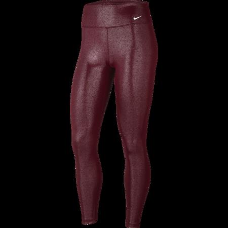 Nike One Sparkle Women's 7/8 Leggings, Dark Beetroot/White