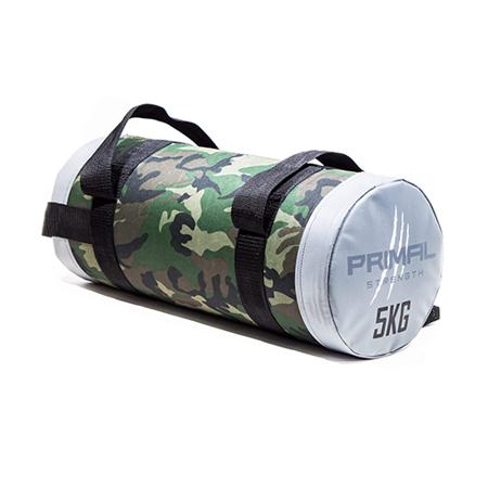 Rebel Fitness Camouflage Powerbag Siva, 5 kg