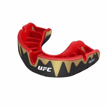 Opro Self-Fit UFC Platinum Fangz Mouthguard, Black Metal/Red