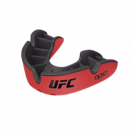 Opro Self-Fit UFC Silver Mouthguard, Red/Black