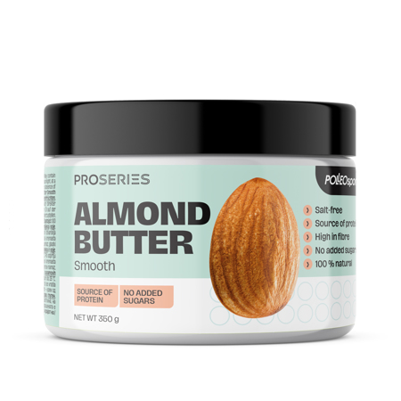 Proseries Almond Butter, Smooth, 350 g