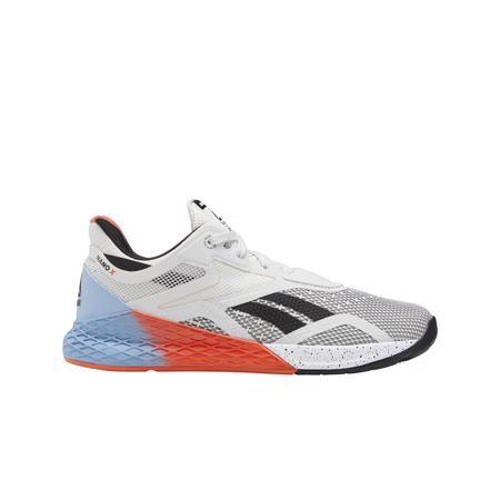 Reebok Nano X Women's Shoes, White/Fluid Blue/Vivid Orange