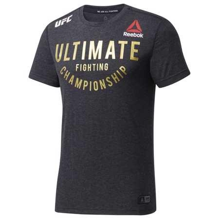 Reebok UFC Fight Night Walkout Jersey, Black/Gold