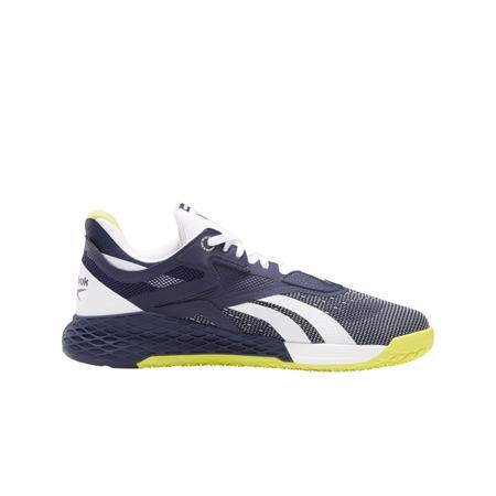 Reebok Nano X Shoes, Vector Navy/White/Chartreuse