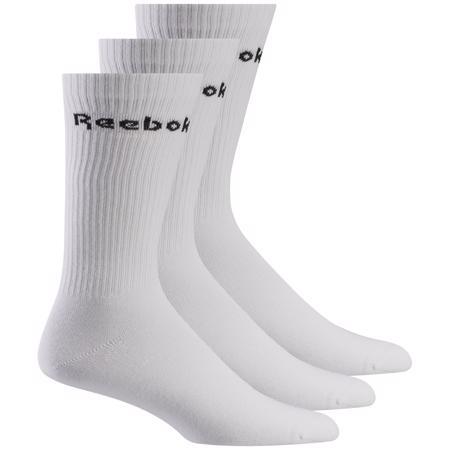Reebok Active Core Mid Crew Socks 3 Pack, White