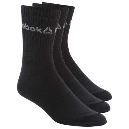 Reebok Active Core Crew Socks (3 Pair), Black - 47