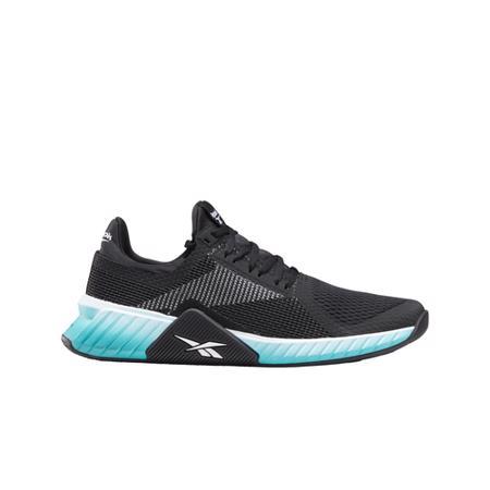 Reebok Flashfilm Trainer Shoes, Black/White/Seaport Teal