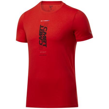 Reebok Combat Core Wordmark SS Shirt, Instinct Red