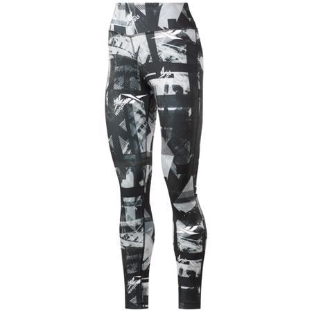 Reebok Workout Ready MYT Printed Women's Leggings, Black/White
