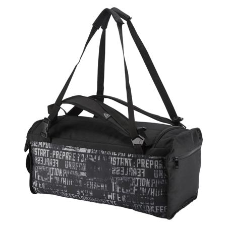 Reebok Style Foundation Unisex Convertible Grip Duffle Bag, Black