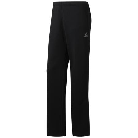Reebok Training Essentials Fleece Open Hem Pants, Black