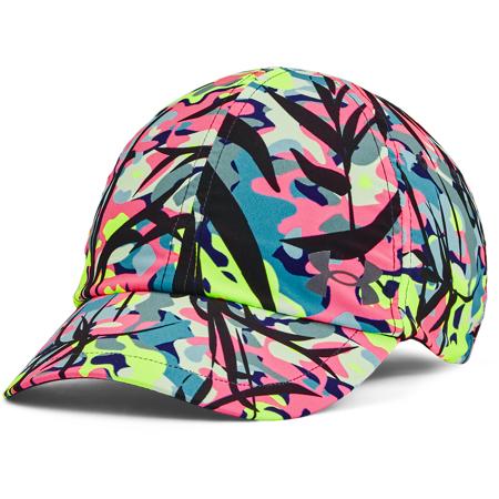 UA Isochill Launch Multi Hair Women's Cap, Blackout Purple/Pink Shock