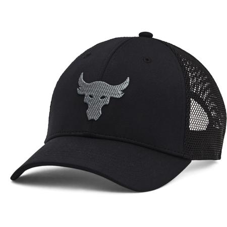UA Project Rock Trucker Cap, Black/Pitch Grey