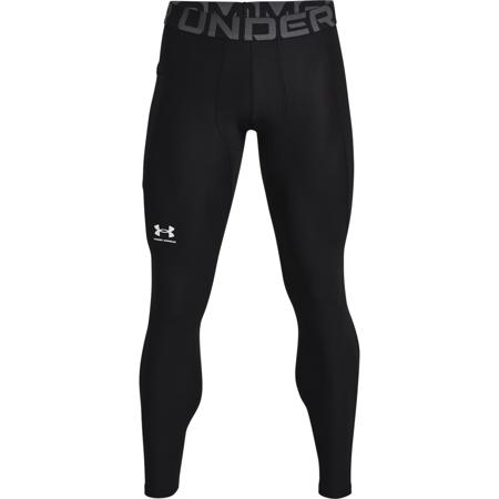 UA HeatGear Leggings, Black/White