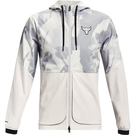 UA Project Rock Legacy Windbreaker Jacket, Onyx White