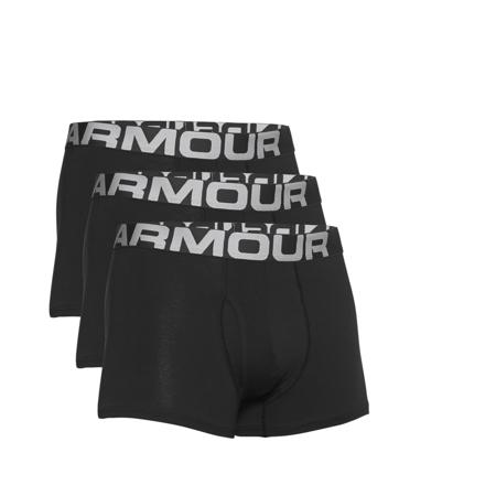 "UA Charged Cotton 3"" Boxerjock, 3 Pack, Black"