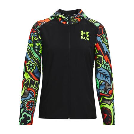 UA Keep Run Weird Women's Jacket, Black/Gala/Reflective