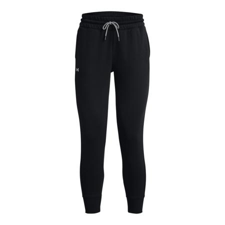 UA Rival Fleece Mesh Women's Pants, Black/White