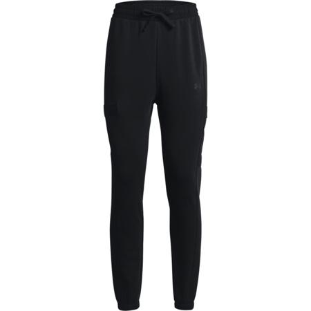 UA Project Rock Women's Fleece Pants, Black