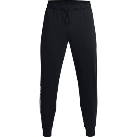 UA Project Rock Rival Fleece Pants, Black/Onyx White