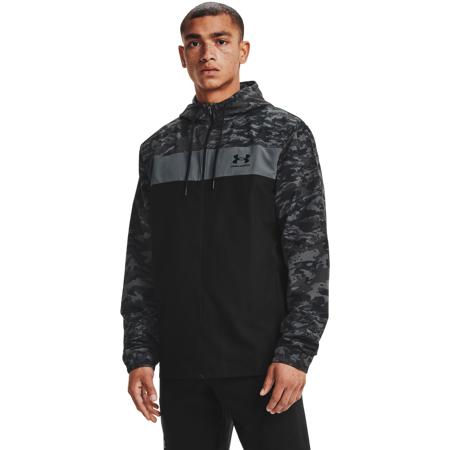 UA Sportstyle Camo Windbreaker Jacket, Black